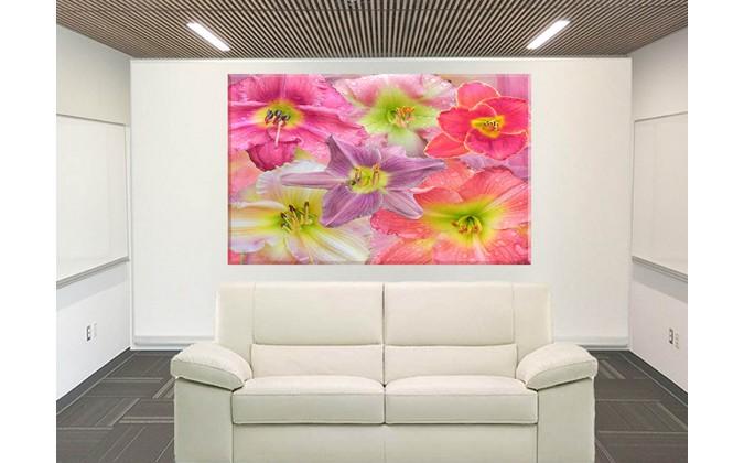 5018-Lirios fondo floral