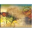 Reloj Mariposa Música De La Ciudad Árbol Pergamino