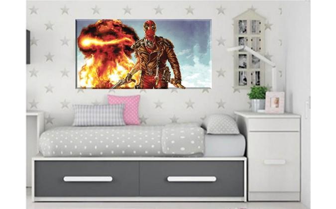 cuadro en lienzo lucha con fuego