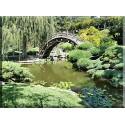 lienzo Japonés de Jardín Zen Estanque Oriental