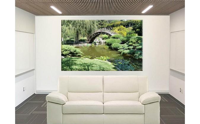Japonés Jardín Zen Estanque Oriental