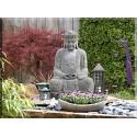 cuadro lienzo Buda Jardín Escultura Figura Asia Yoga Meditación