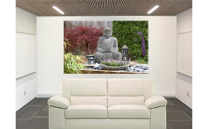 Buda Jardín Escultura Figura Asia Yoga Meditación