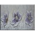 Flores decorada en violeta