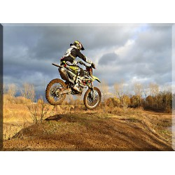 Suciedad Motocicleta Salto Otoño