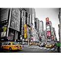 Nueva York Rojo Amarillo Estados Unidos Ciudad.
