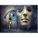 Fantasía Surrealista Máscara La Pared Ojo