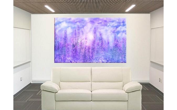 cuadro prado de violetas