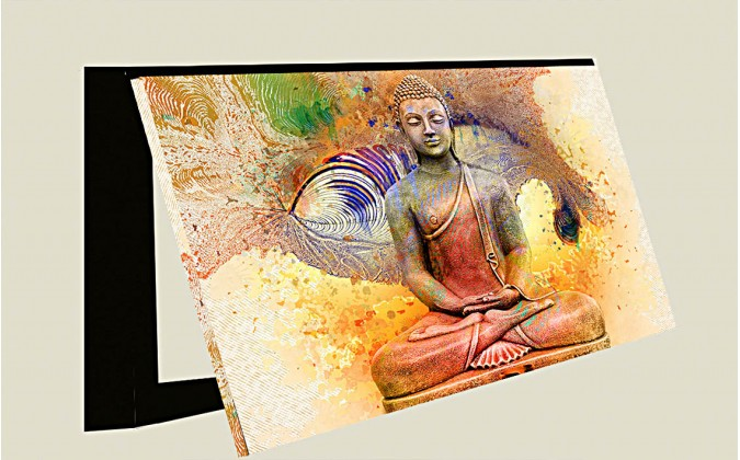 Cubrecontado Buda abstracto en rojo