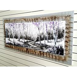 Bosque otoñal tonos violeta-150x60 cm