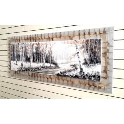 Pintura en tonos de grises 150x60 cm