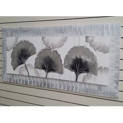 Abstracto flor plata 60x150 cm