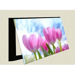 Tapa contador-Flores tulipanes naturales
