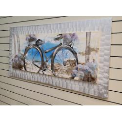 bicicleta pintada vintage EX- 60x150 cm
