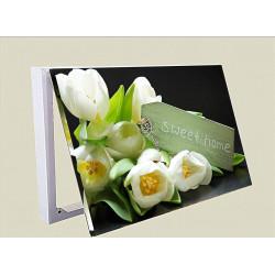 Tulipanes Escudo Dulce Hogar Clave Llavero