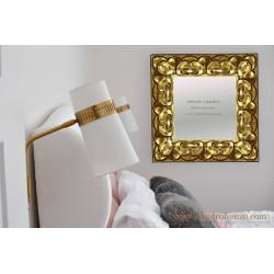 Espejo oro madera labrada