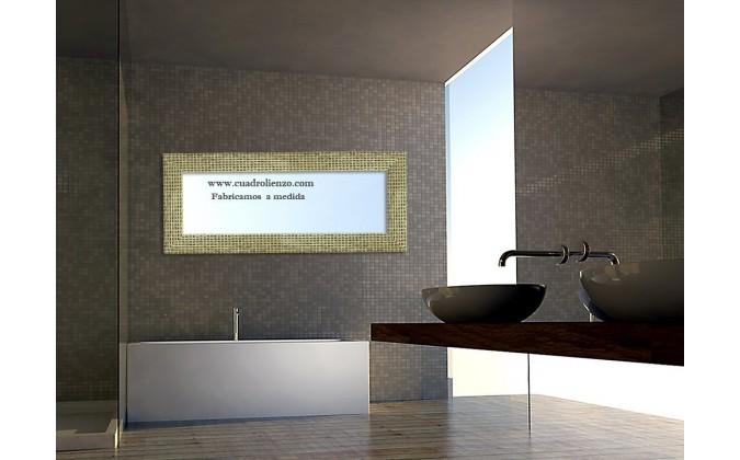 Espejo oro mosaico