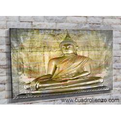 Estatua oro Templo El Buda
