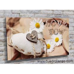 77007-Corazón y margaritas