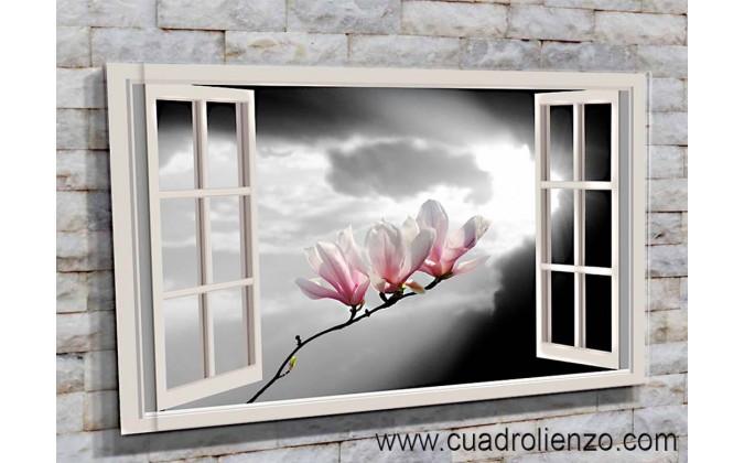 5512-Magnolias en la ventana