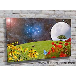 9028-Prado Verde De Flores Hierba