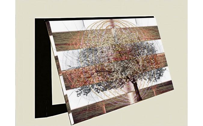 Cubrecontador-arbol con vida abstracto