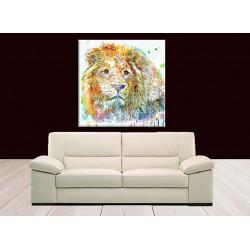 Dibujo leon de colores