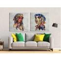 cuadros de Indios 70x70 cm