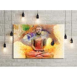 Buda abstracto en rojo