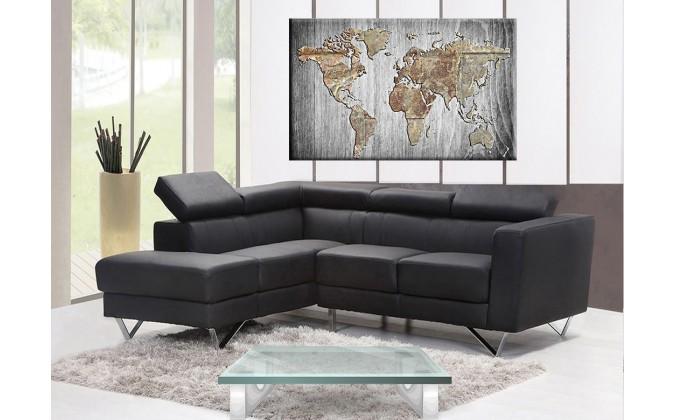 Mapa madera gris-24517