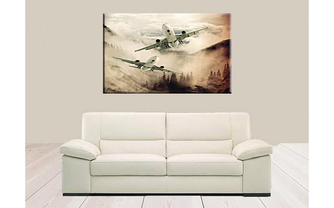 41002-Aviones entre nubes