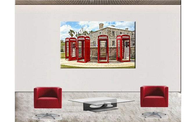 75013-Cabina -teléfono-rojo