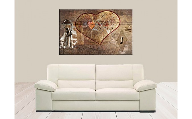 77001-Corazón de madera