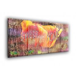 77005-Flor de madera roja