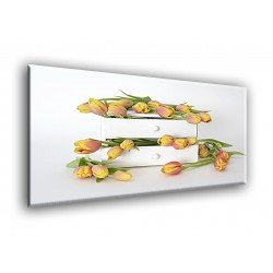 9512-Ramo tulipanes naranja naturaleza