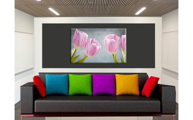 9517-Tulipanes flores rosadas