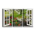 9520-Tulipán y ventana un hermoso buen dia