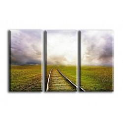 22516-Raíles de tren con nubes