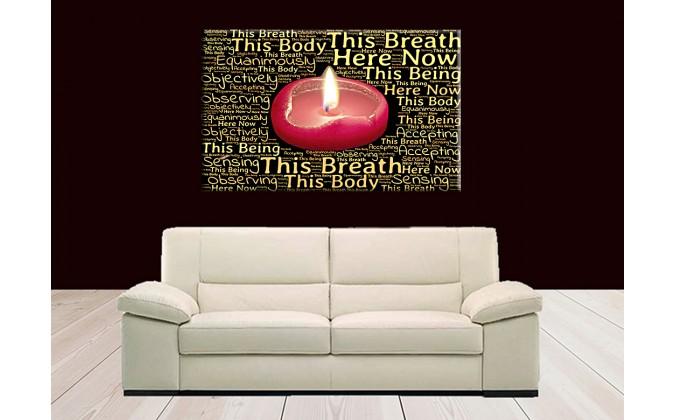 5003-Llama vela meditación