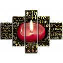 Llama vela meditación
