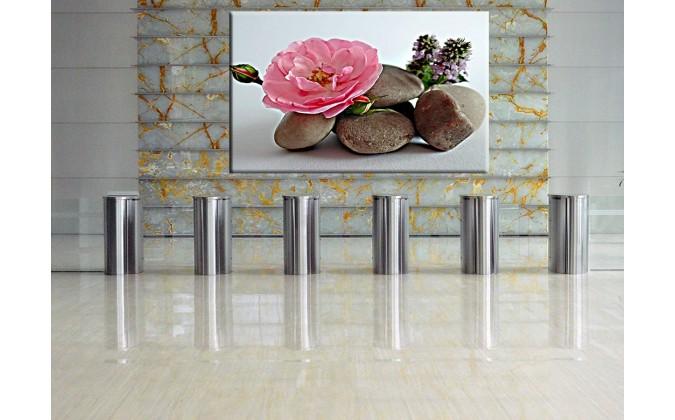 5012-Flor piedras meditación