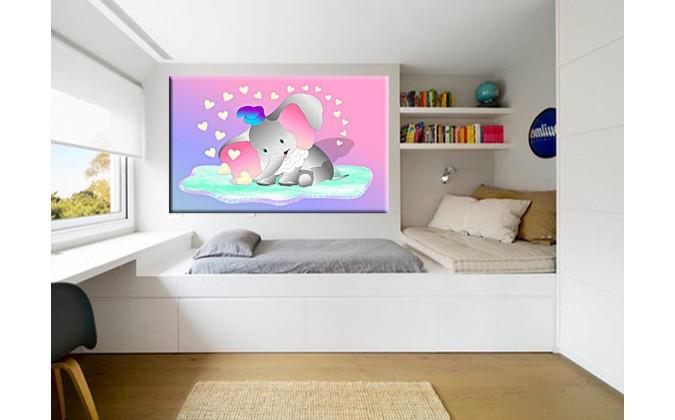 90017-Elefante infantil rosa