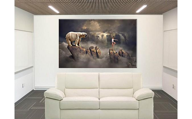 70506-Paisaje oso polar fantasía