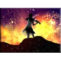 42022-Acción Fuego Explosión Etapa Música Violín