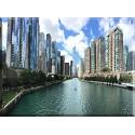 17503-Arquitectura Edificios Negocio Chicago Ciudad