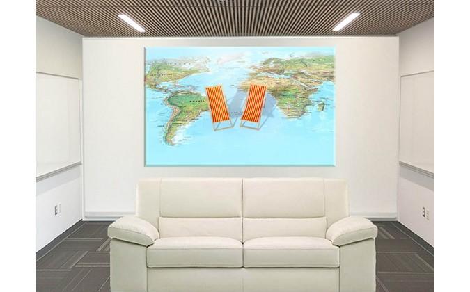 24530-Mapa Mundo Océano Complejo Relajación