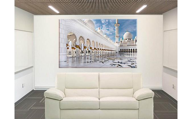 15504-Mezquita Abu Dhabi De Viaje Blanco Arquitectura