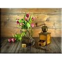 9546-Tulipanes y molinillo de café