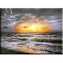 -Dinamarca Mar Del Norte Mar Playa Nubes Cielo 20042