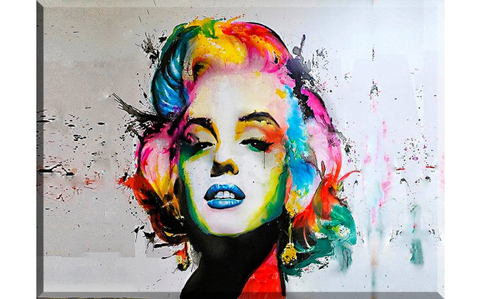 Arte en La Pared Marilyn Monroe Color Pintura-72024